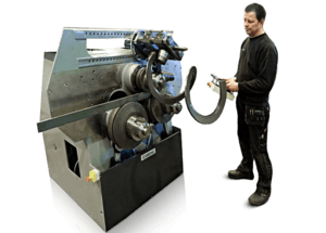 Machines for spiralling, flights and augers