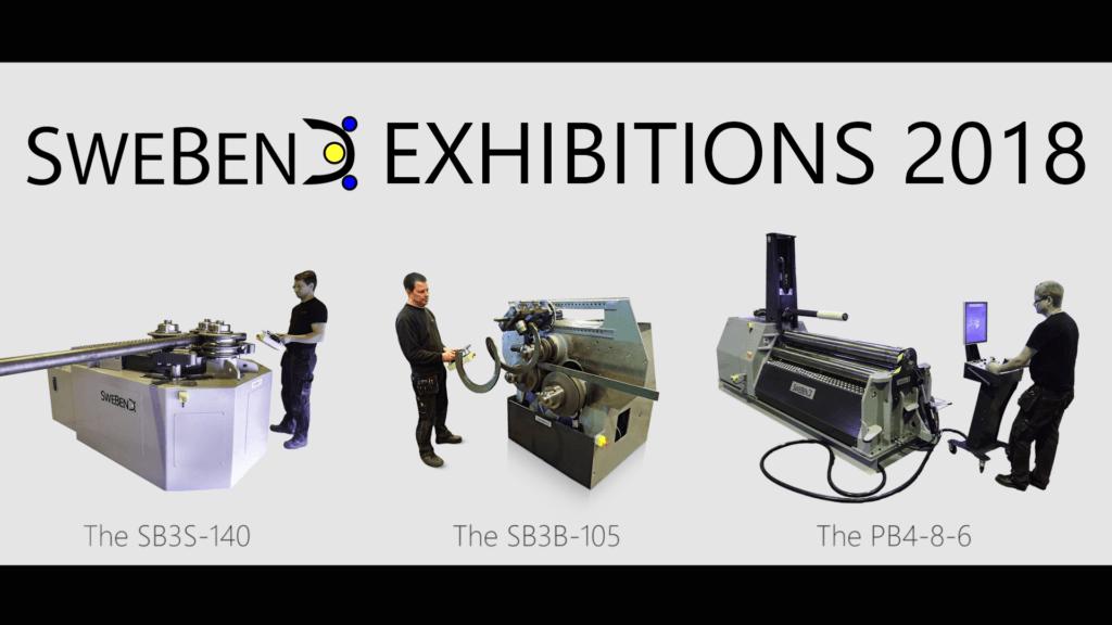 SweBend Bending machine Exhibitions 2018 white