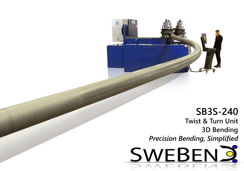 SweBend SB3S-240 roller coaster production - section bending
