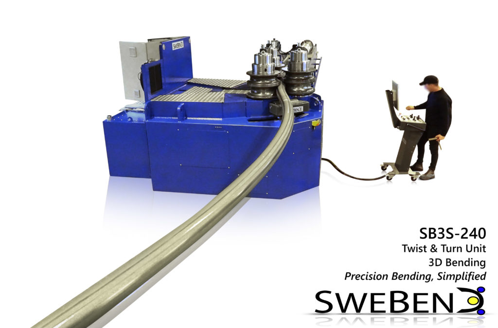 SweBend SB3S-240 roller coaster production - section bending -2
