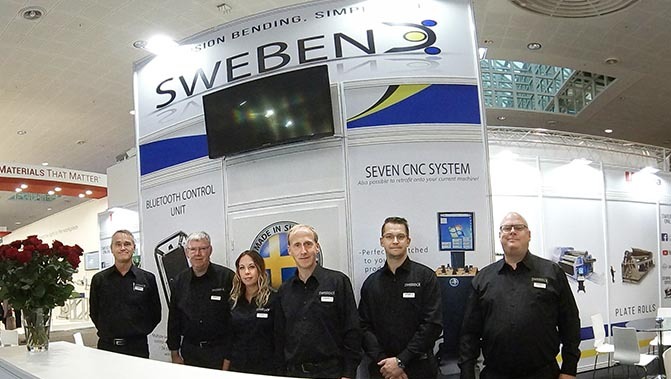 bending machine exhibitions 2020 swebend