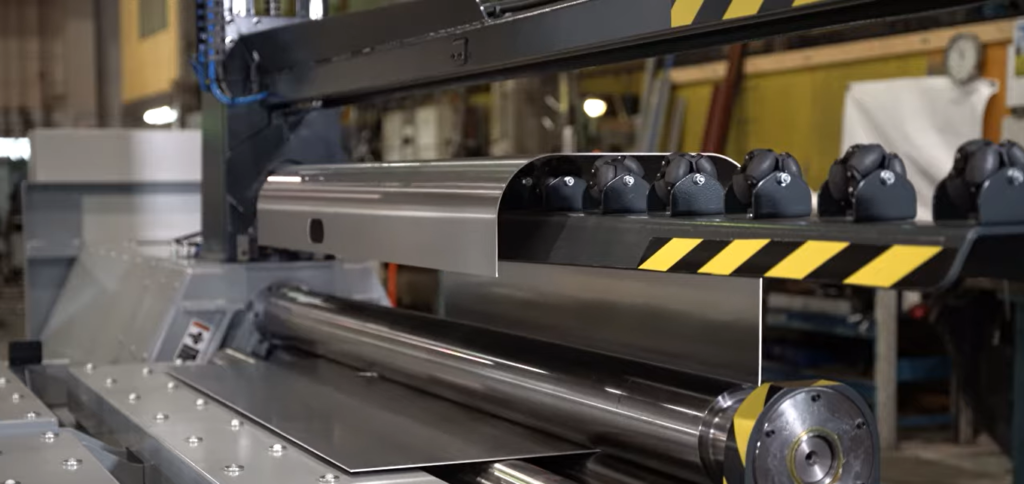 Automated Plate Roll - Sheet Metal Bender for Truck Production
